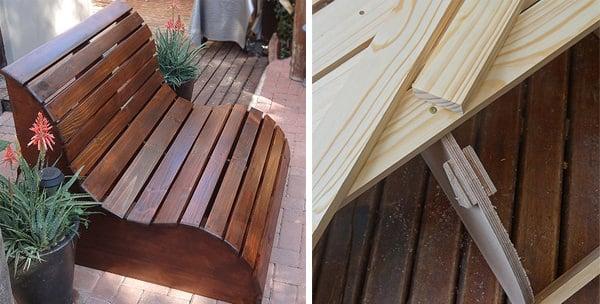pine garden bench