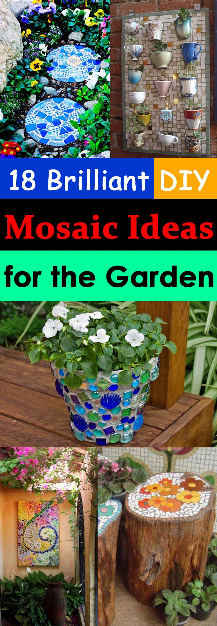 18 Brilliant DIY Mosaic Ideas For Garden | Mosaic Craft | Balcony ...