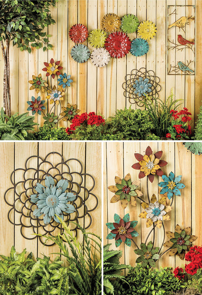 Decorations from wrought iron Garden Fence Ideas