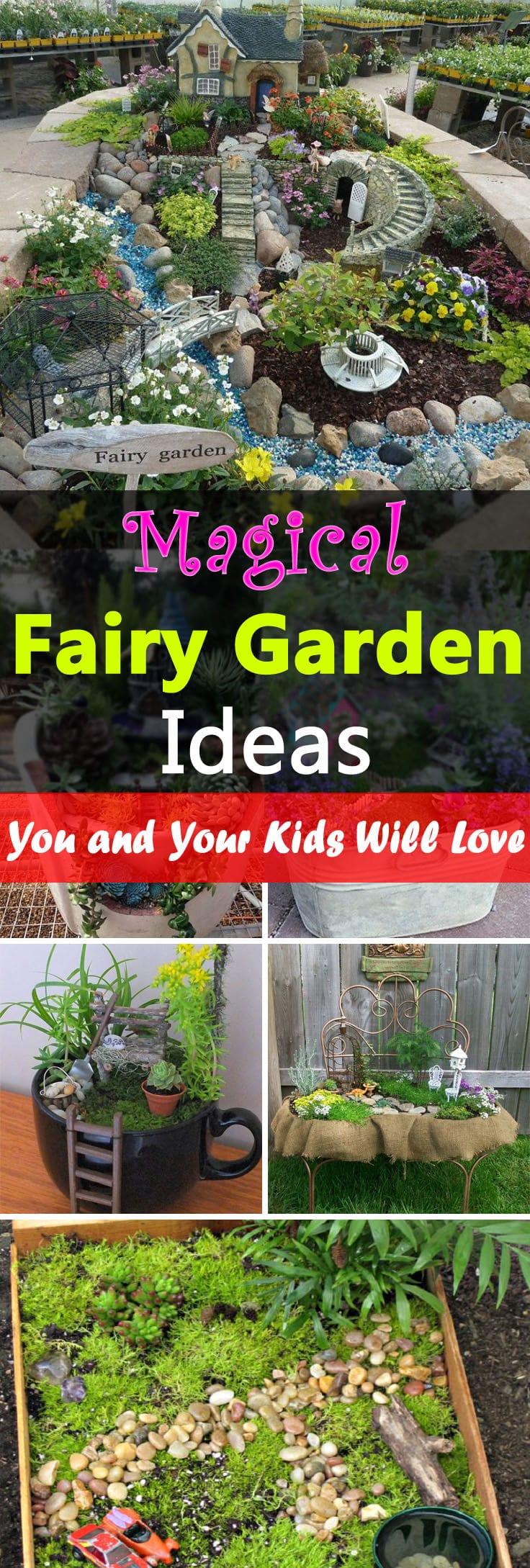 Garden Design Ideas Small Spaces: Magical Fairy Garden Ideas You & Your Kids Will Love