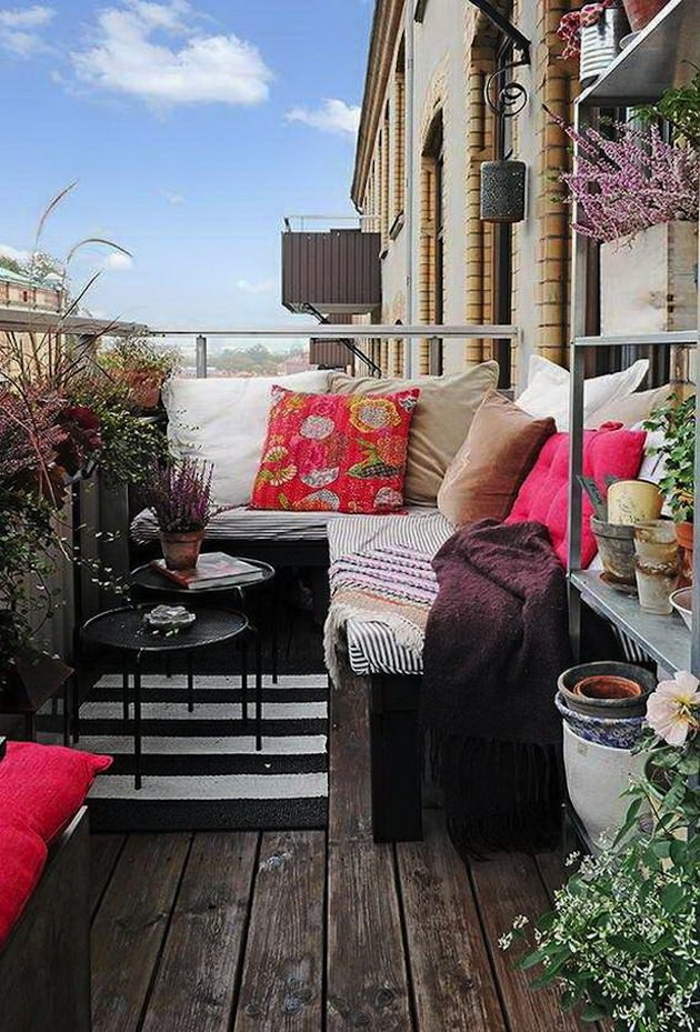 If You Have A Small Bookcase, An Old Rack Or Something Like That, Place It  On The Balcony To Keep The Plants, Tools And Other Equipment.