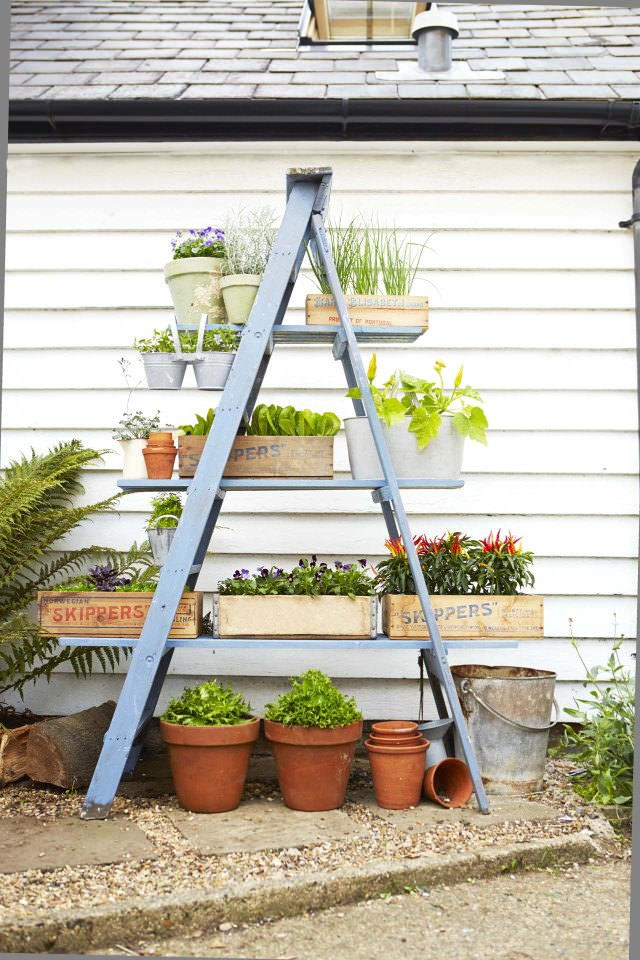Charmant Diy Ladder Planter