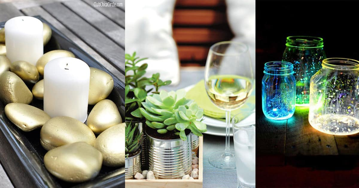 25 Most Beautiful Diy Table Top Decoration Ideas Balcony Garden Web