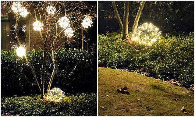 diy christmas outdoor decoration ideas 11 - Christmas Lawn Lights Illuminated Outdoor Decoration