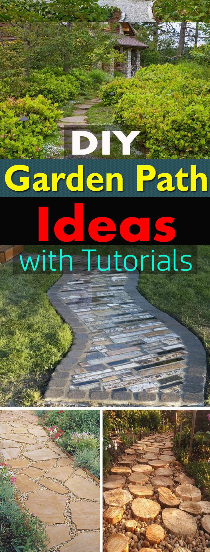 19 DIY Garden Path Ideas With Tutorials | Balcony Garden Web on Backyard Landscape  id=26451