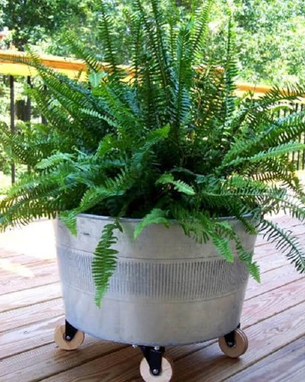 Attrayant What Do You Get When You Combine Galvanized Tubs And Casters? Mobile  Planters That Give You The Twofold Advantage Of Growing Various Plants In  Raised Garden ...