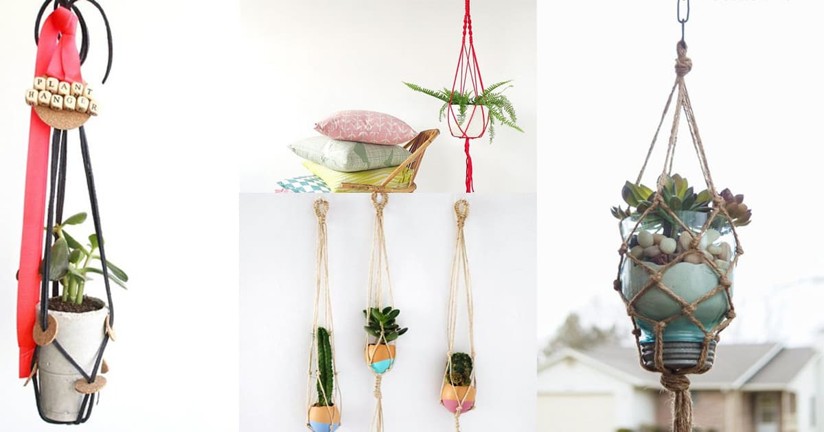 image regarding Free Printable Macrame Plant Hanger Patterns called 23 Utmost Outstanding Macrame Plant Hangers Do it yourself Suggestions Balcony