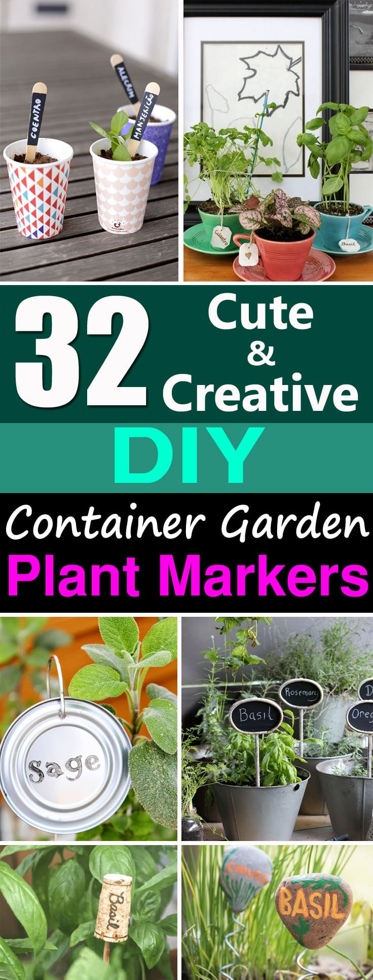 Learn How To Create Garden Markers For Your Container Garden, Choose From  This Extensive List