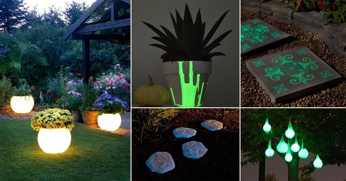 16 Magical Diy Glow In The Dark Ideas For Garden Balcony Web