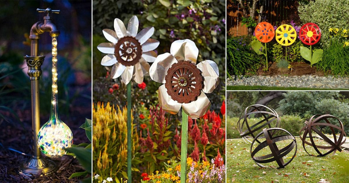 31 DIY Garden Ornaments Projects To Beautify Your Garden | Balcony