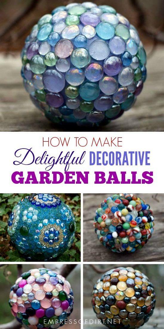 31 DIY Garden Ornaments Projects To Beautify Your Garden ... on Handmade Diy Garden Decor  id=94452