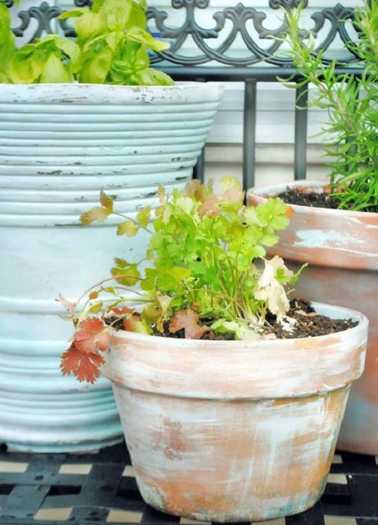 aged new garden pots - Garden Pots