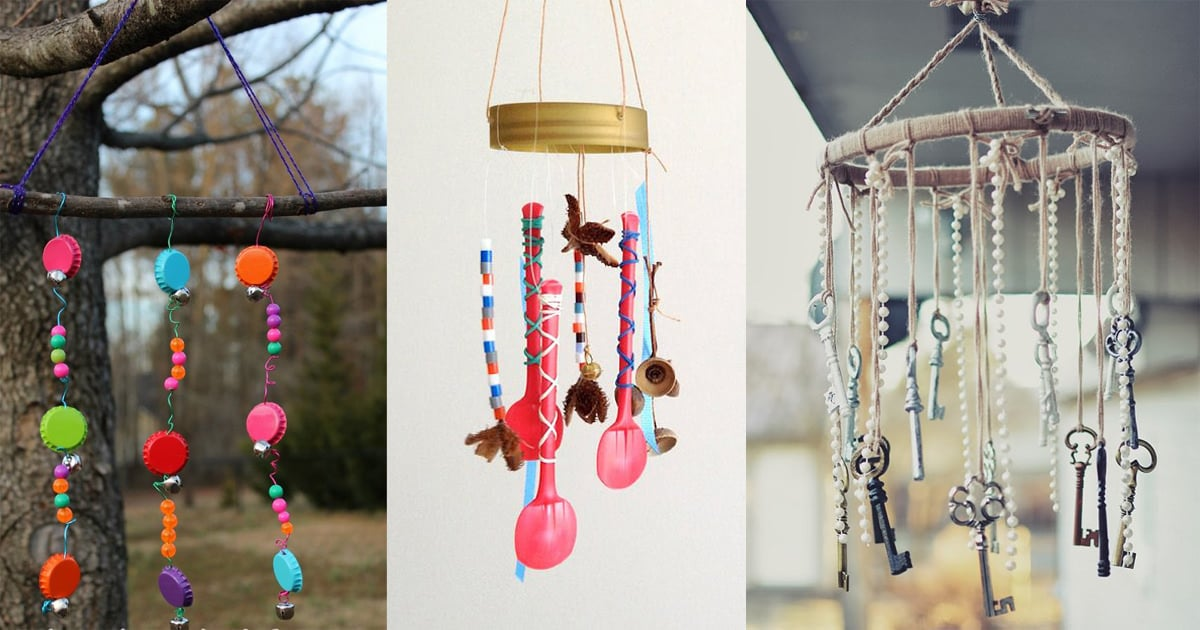 30 Musical DIY Wind Chime Ideas With Tutorials | Balcony Garden Web