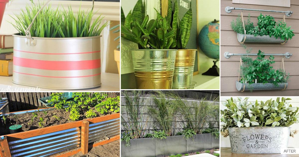 12 Diy Galvanized Metal Planters With Tutorials Balcony Garden Web