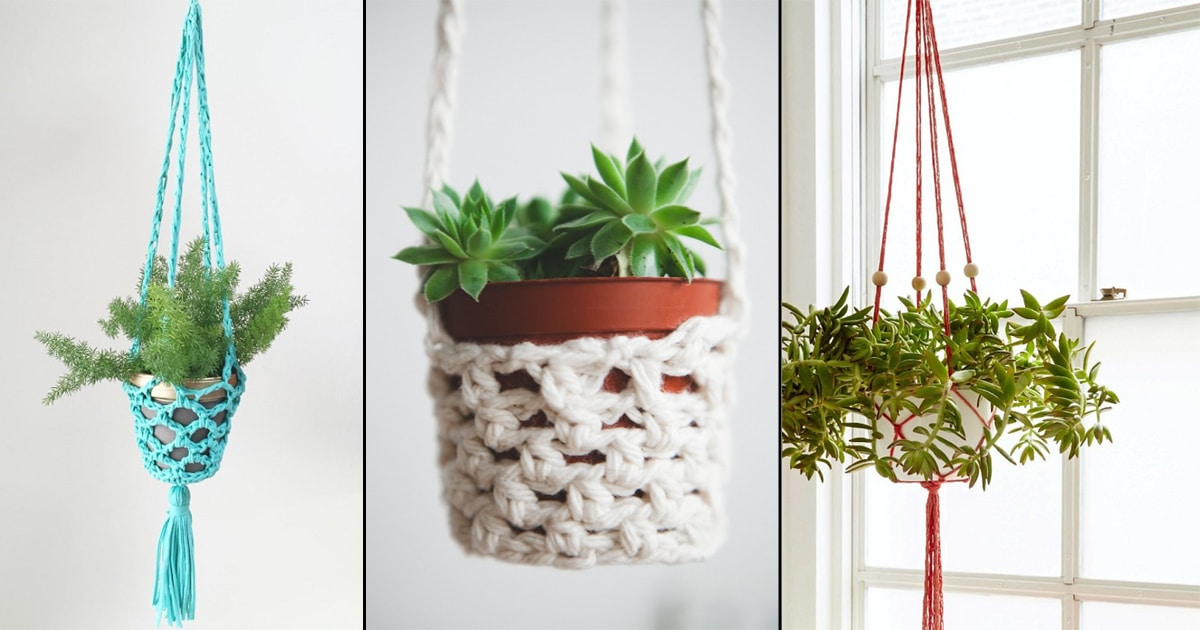 18 Free Diy Crochet Plant Hanger Patterns Balcony Garden Web
