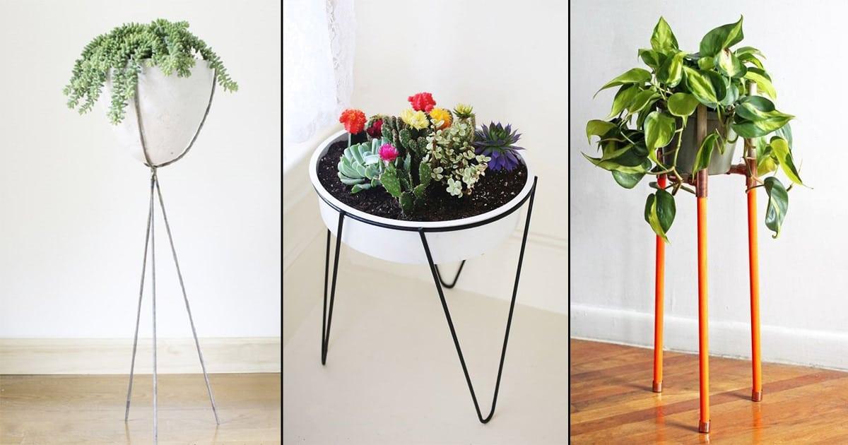 9 Modern Diy Tripod Plant Stand Ideas Balcony Garden Web