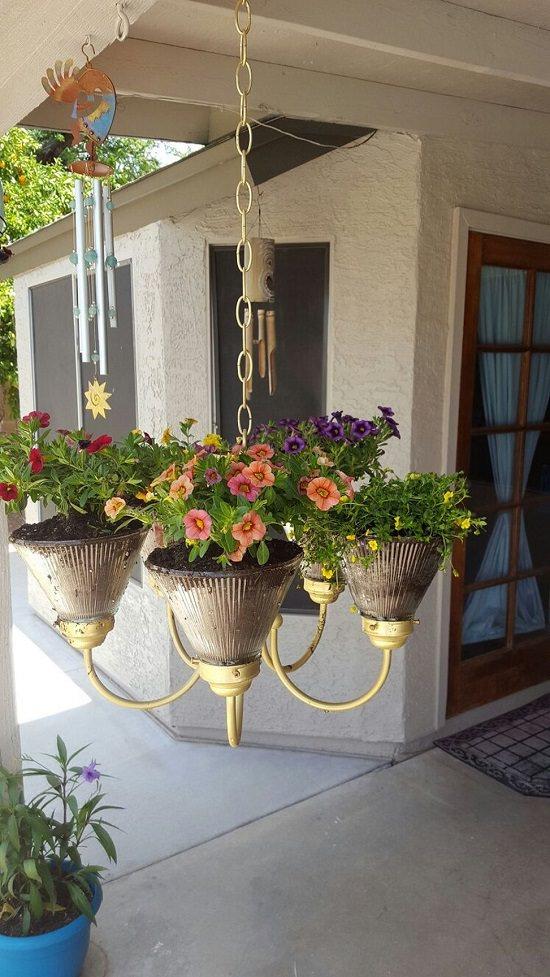 Faux Porch Plants