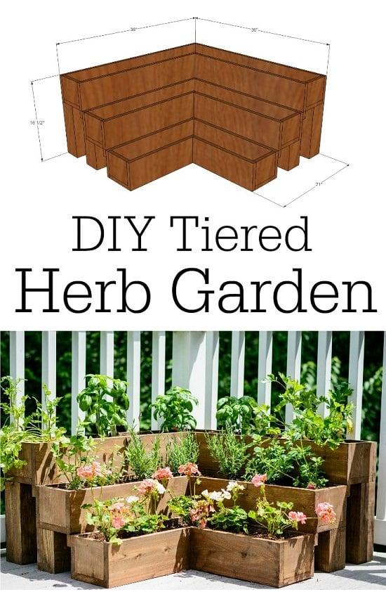 Gentil DIY Tiered Herb Garden Tutorial