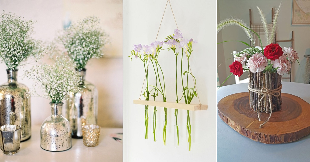Balcony Garden Web & 50+ Gorgeous DIY Flower Vase Ideas You Can Do Easily | Balcony ...