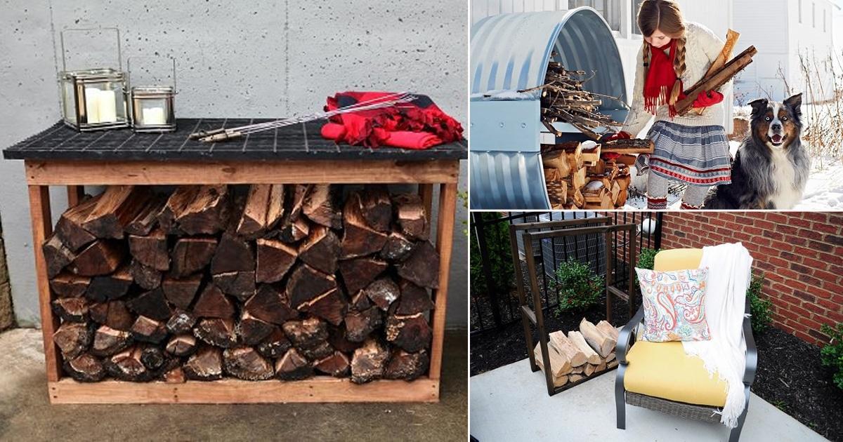 16 Best Homemade DIY Firewood Racks Ideas | Balcony Garden Web