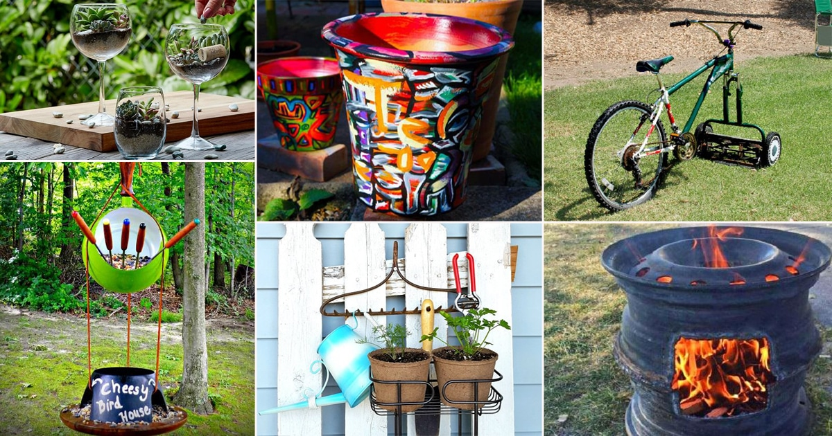 60+ Unbelievable DIY Upcycled Garden Projects For 2019