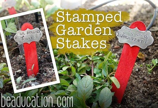 DIY Garden Stake Ideas 10