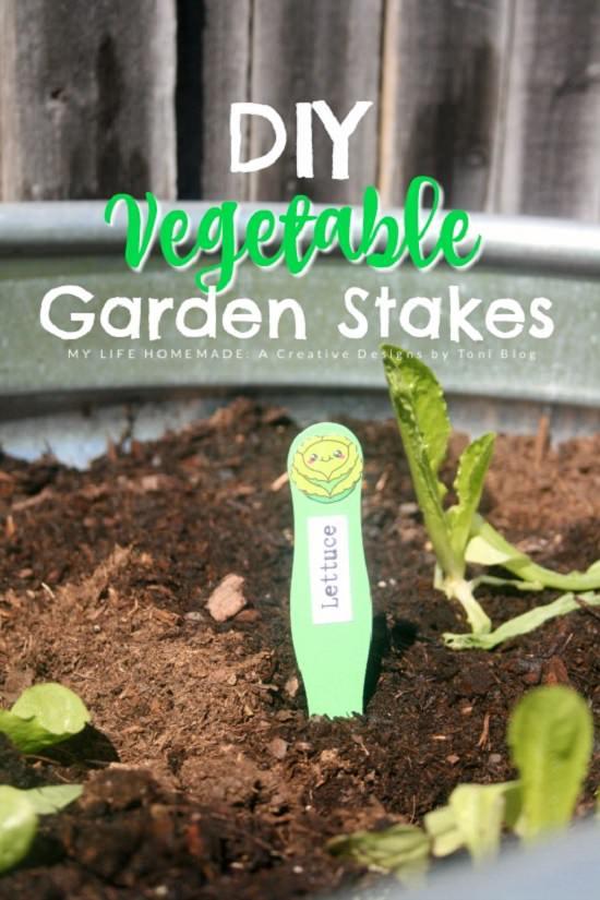 DIY Garden Stake Ideas 13