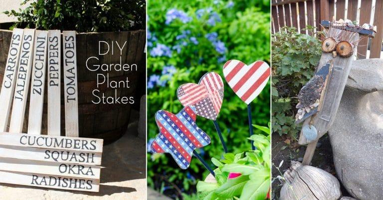 24 Cool DIY Garden Stake Ideas